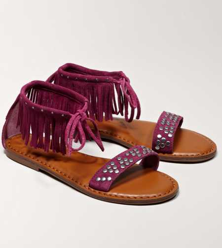 AEO Studded Fringe Sandal - Take 40% Off