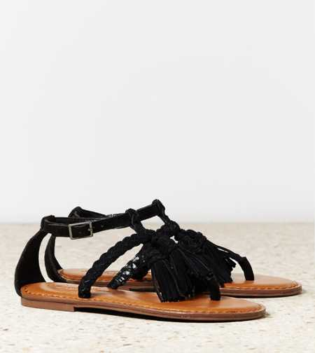 AEO Braided Tassel Sandal - Take 40% Off
