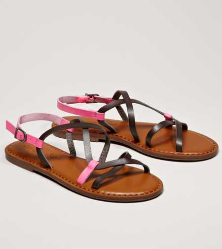 AEO Two-Tone Strappy Sandal - Free Shipping On Shoes