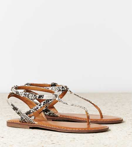 AEO Faux Snakeskin Sandal - Free Shipping On Shoes