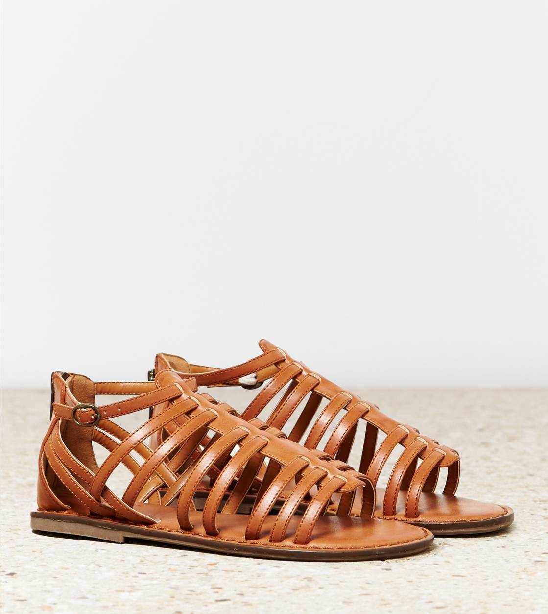 Tan AEO Zip Back Gladiator Sandal