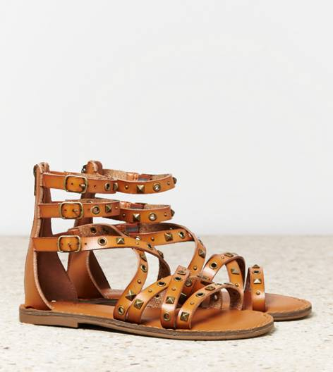 Tan AEO Studded Gladiator Sandal