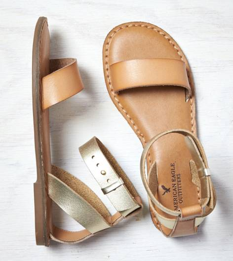 Natural AEO Ankle Strap Sandal