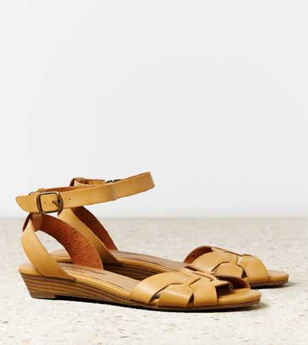 AEO Woven Mini Wedge Sandal - Free Shipping On Shoes