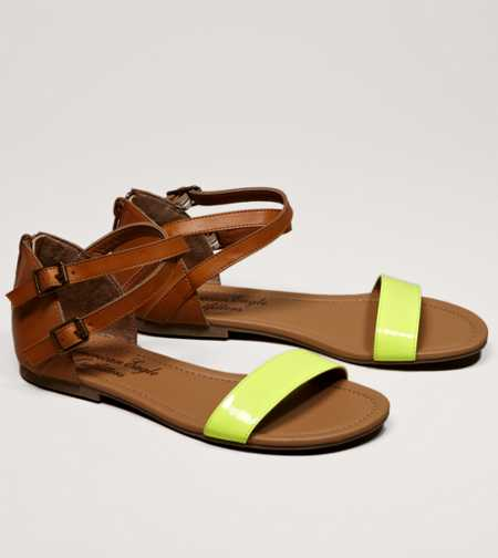 AEO Neon Strap Sandal - Take 40% Off