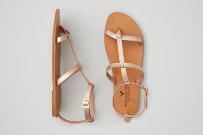 8cf6ca7ba0c9c0 aeo double t strap sandal rose gold american eagle outfitters