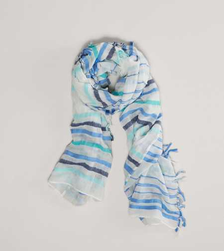 AEO Striped Fringe Scarf