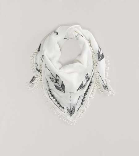 AEO Embroidered Scarf