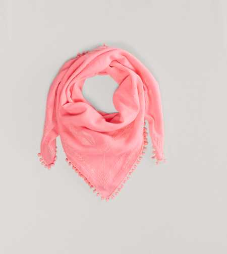 AEO Embroidered Scarf - Take 40% Off