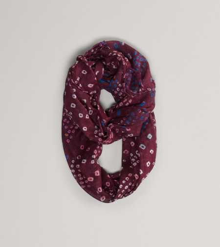 AEO Printed Loop Scarf - Take 40% Off