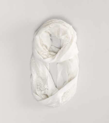 AEO Embroidered Loop Scarf