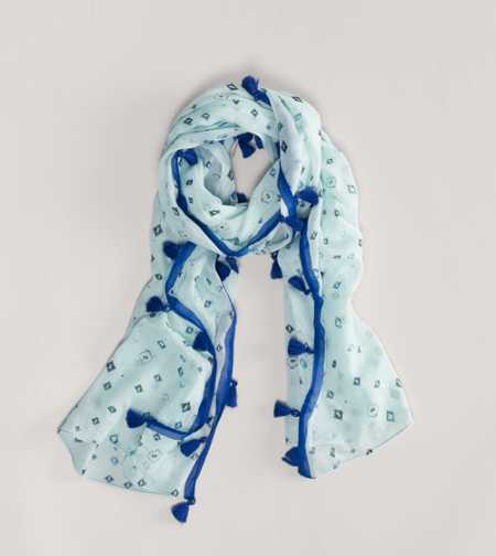AEO Printed Tassel Scarf - Take 40% Off