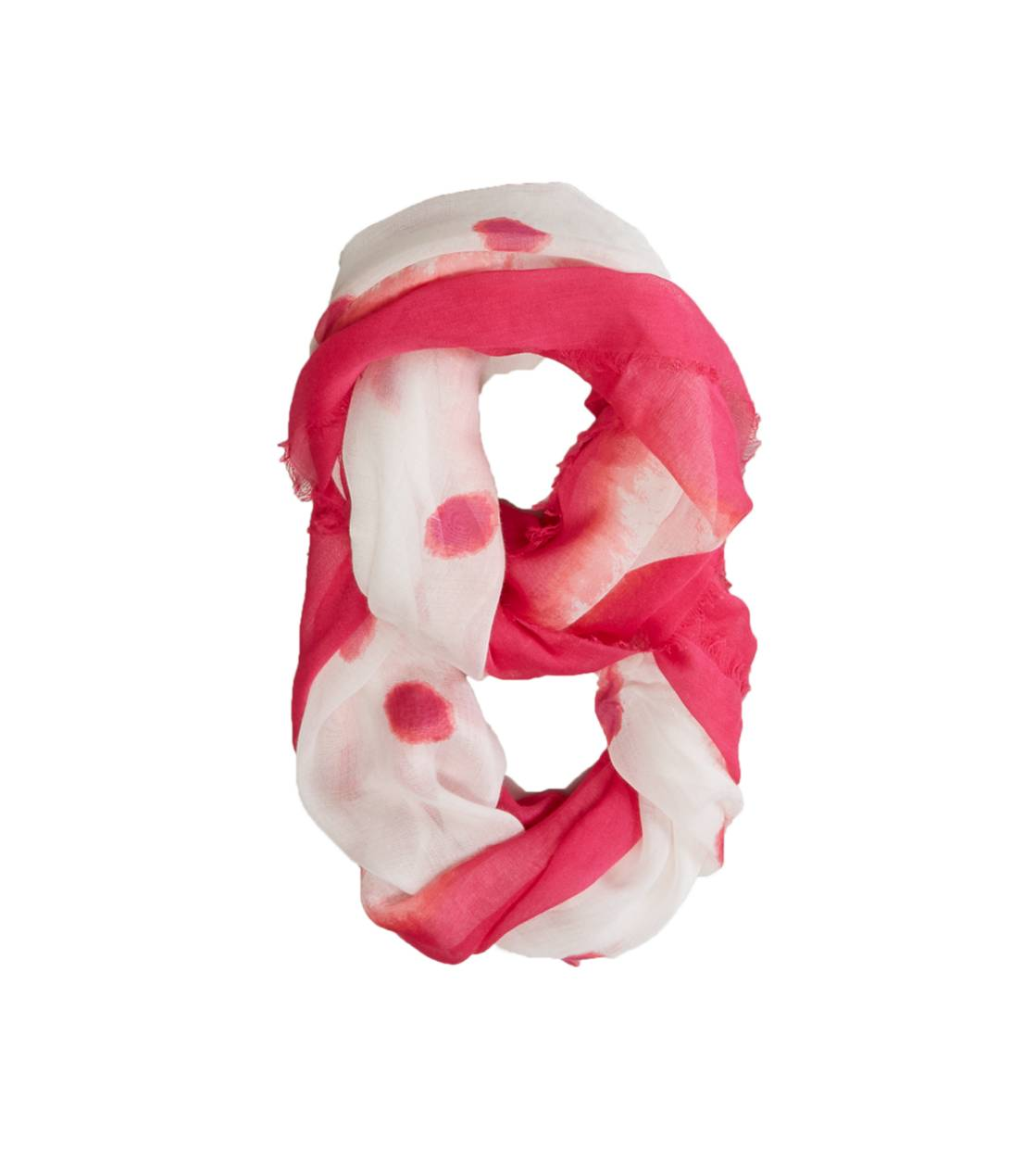 Pink AEO Dot Printed Loop Scarf