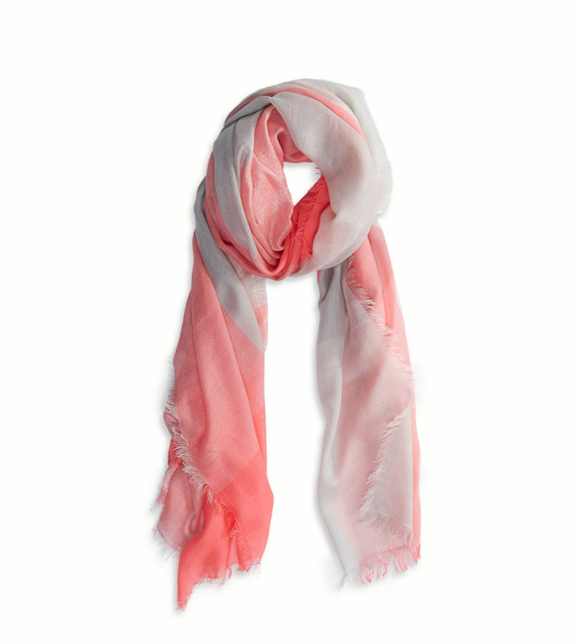 Flamingo Pink AEO Shimmery Plaid Scarf