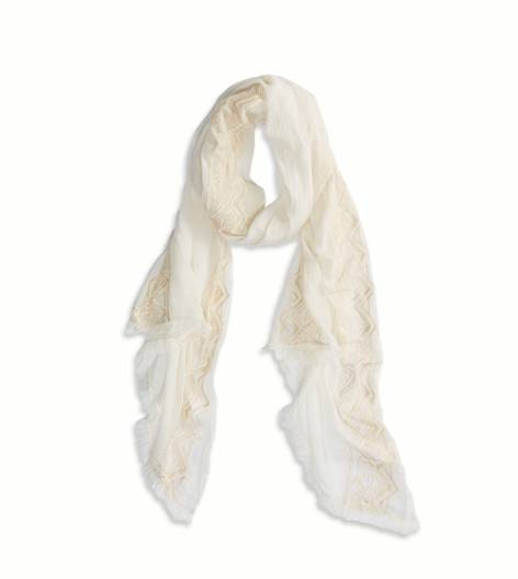 Chalk AEO Embroidered Scarf