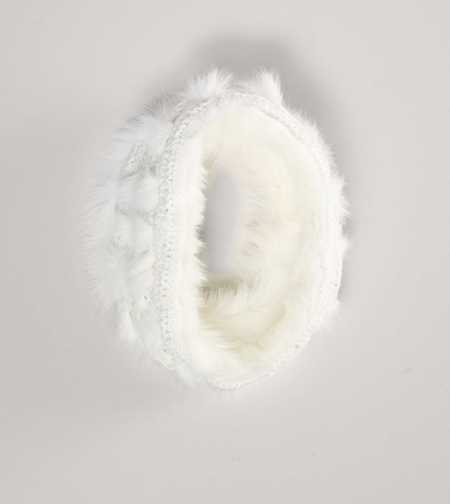 AEO Faux Fur Knit Snood