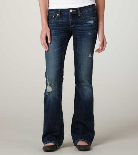 Favorite Boyfriend Jean - Faded Dark Destroy