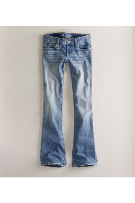 AE Women's Favorite Boyfriend Jeans (Light Authentic Indigo) 2 L