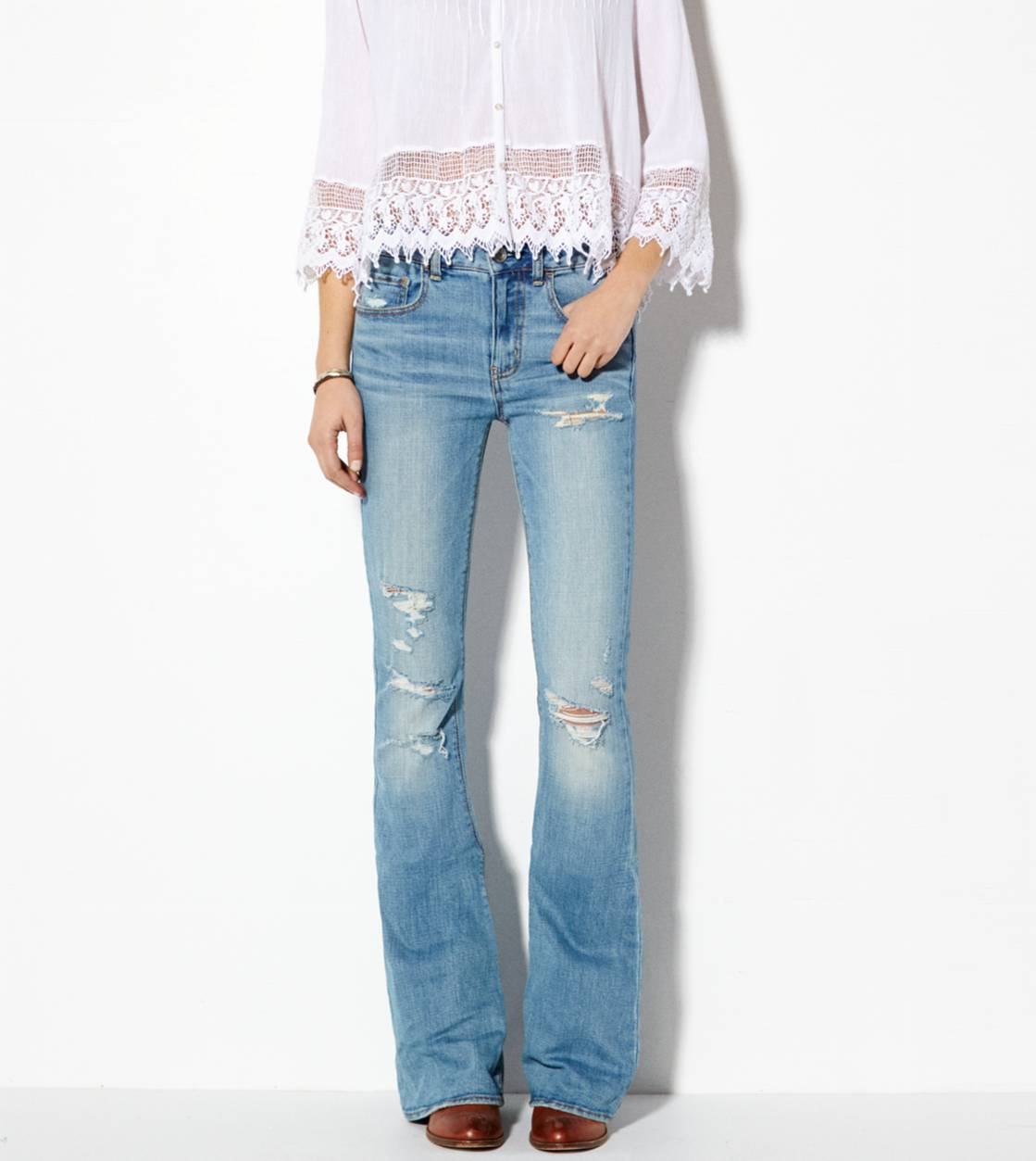 Medium Sandy High-Rise Artist Jean