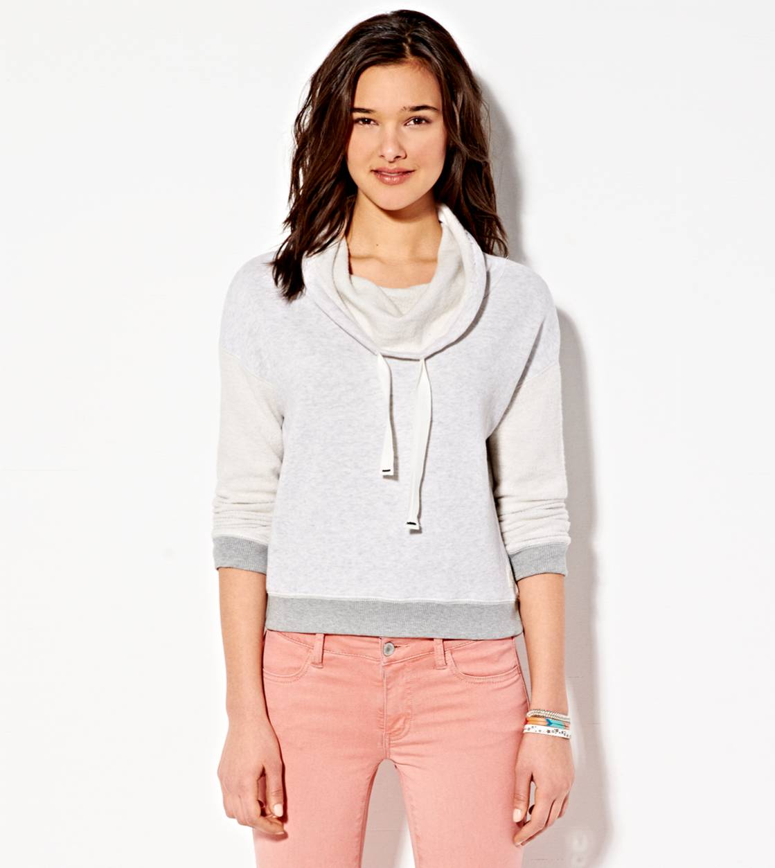 Grey Pantone AE Funnel Neck Sweatshirt