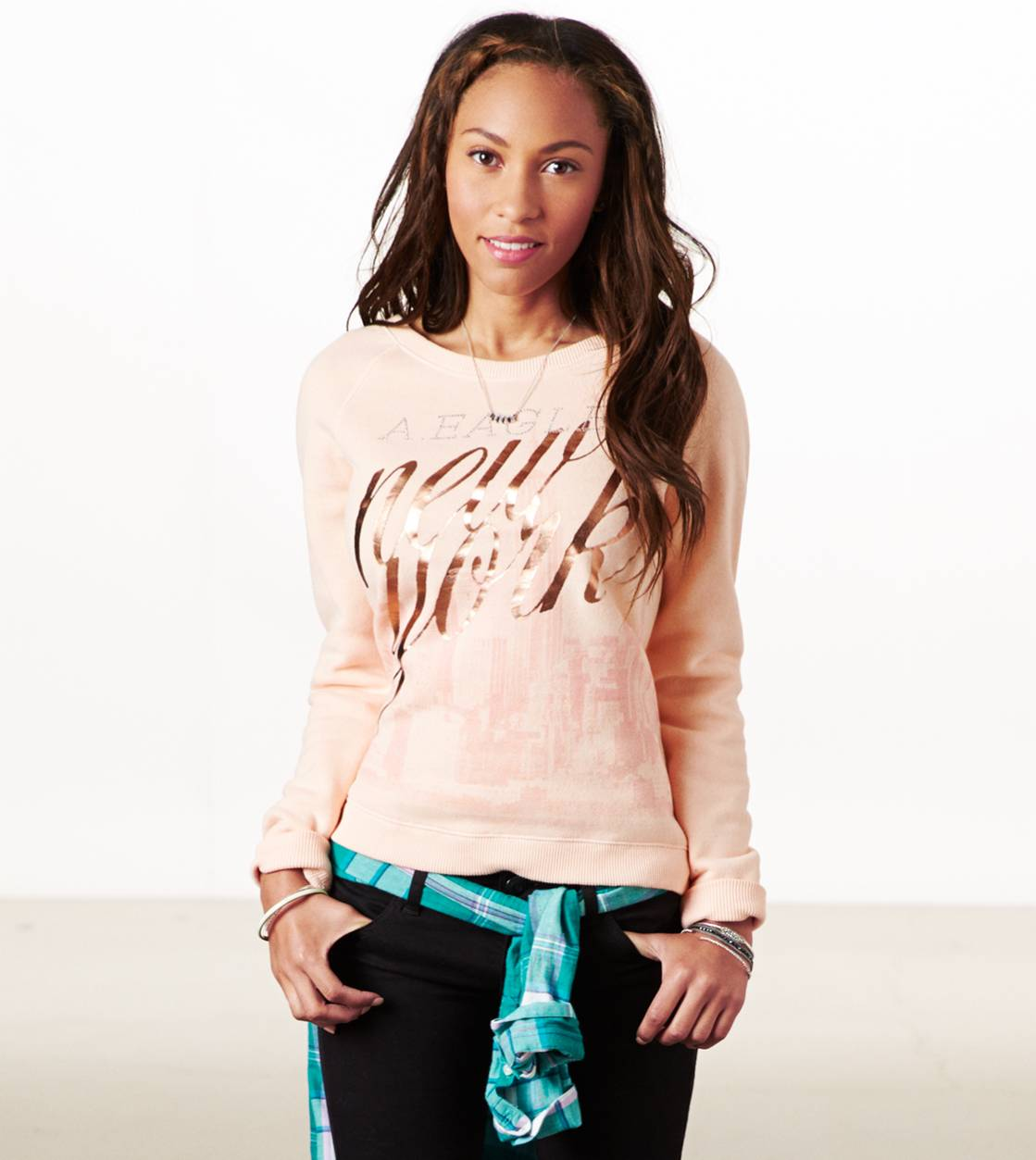 Blush AE NYC Crew Sweatshirt