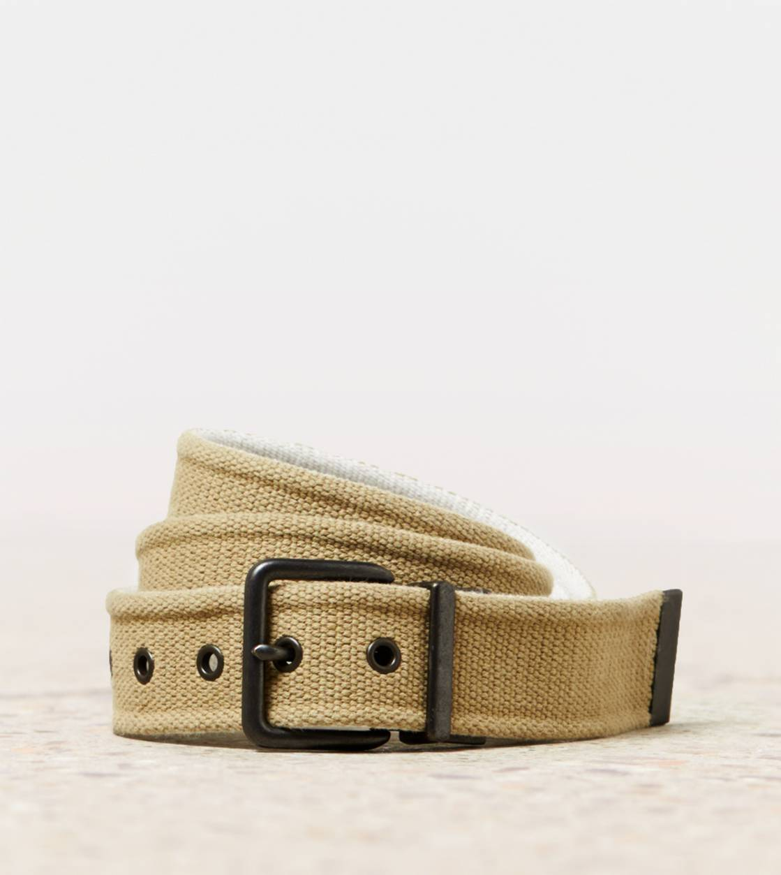 Khaki AEO Reversible Canvas Belt