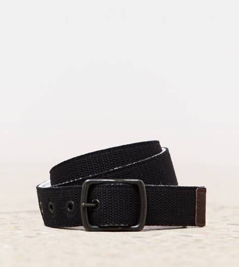 Black AEO Reversible Canvas Belt