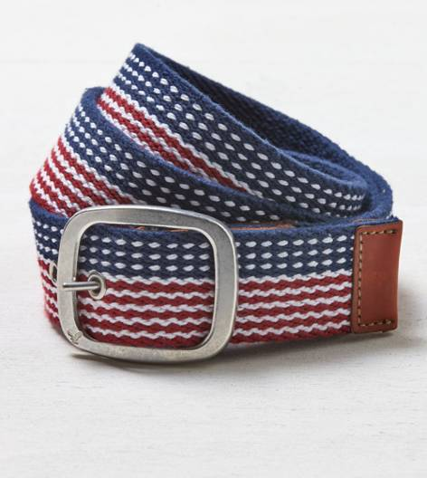 Red AEO Patterned Belt