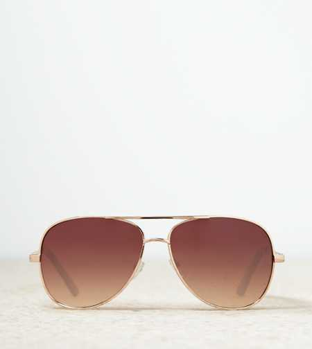 AE Gold Aviator Sunglasses