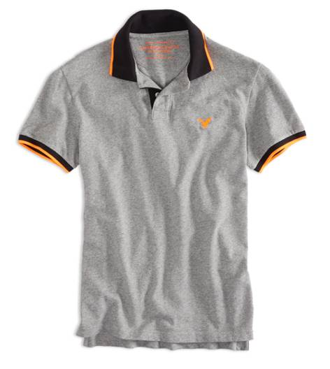 Derby Grey Marl AEO Factory Tipped Polo