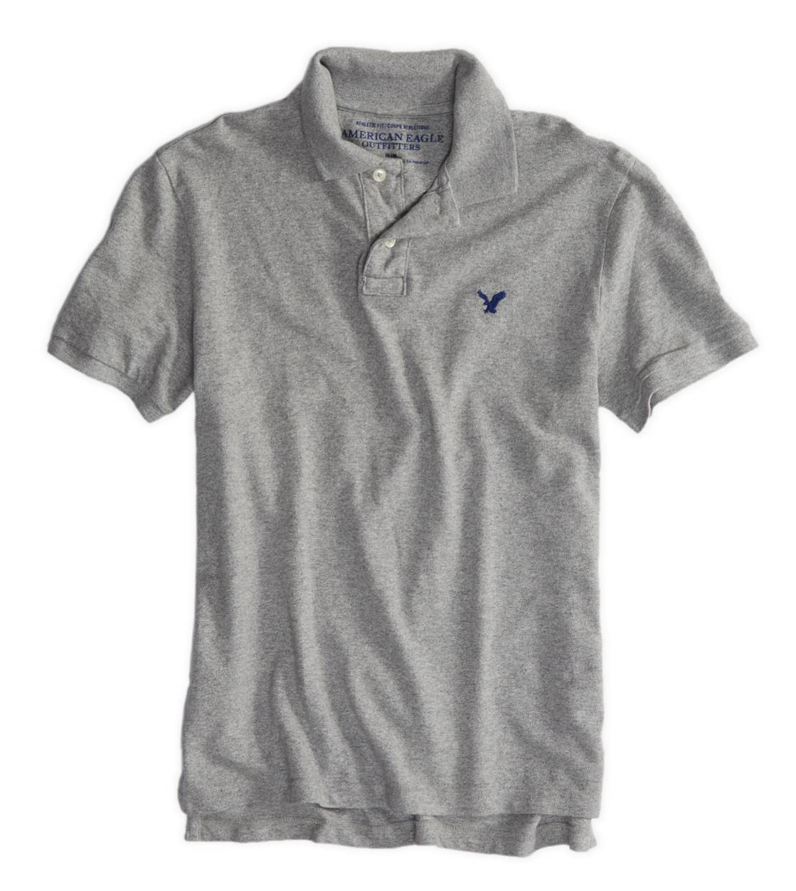 Derby Grey Marl AEO Factory Solid Polo