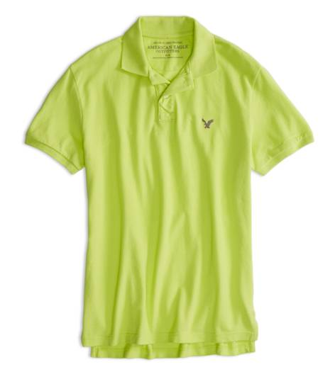 Laser Green AEO Factory Solid Polo