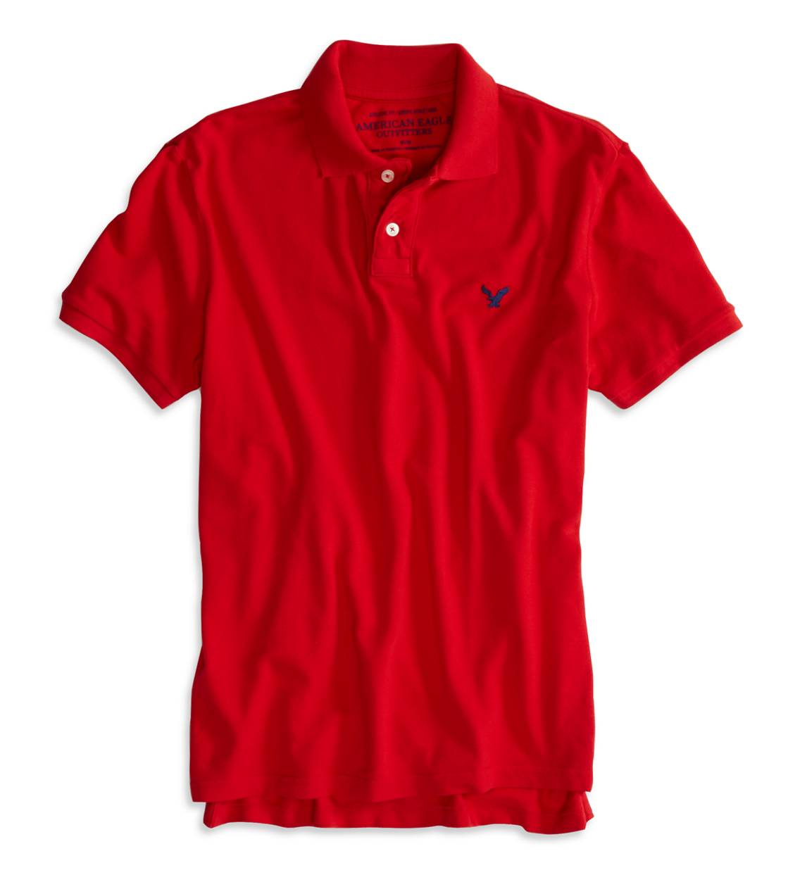 Campus Red AEO Factory Solid Polo