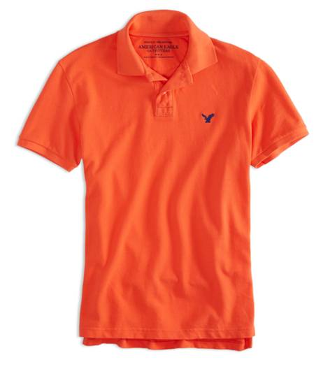 Safe Orange AEO Factory Solid Polo