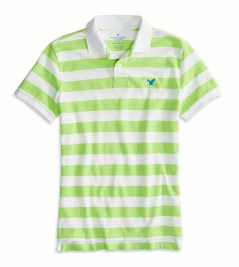 Firefly AEO Factory Striped Polo