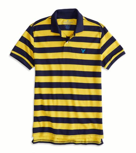 Canary AEO Factory Striped Polo