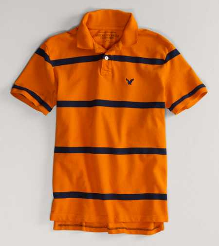 AEO Factory Striped Polo