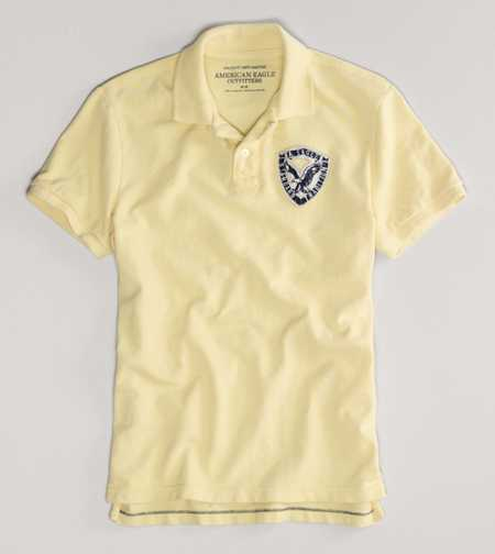AEO Factory Patch Polo
