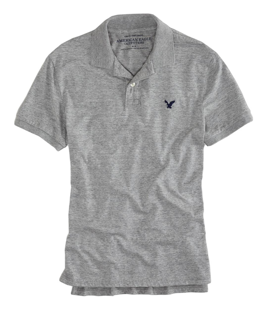 Derby Grey Marl AEO Factory Jersey Polo