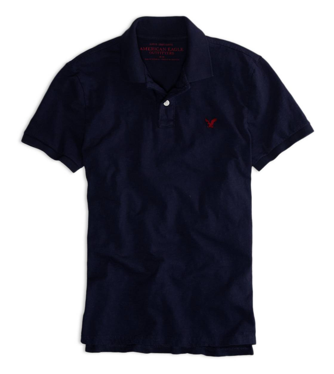 Deep Navy AEO Factory Jersey Polo