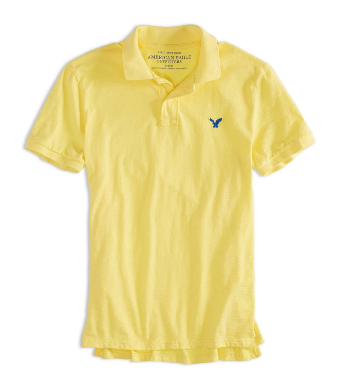 Starbright Yellow AEO Factory Jersey Polo
