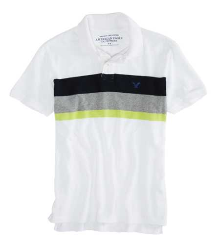 AEO Factory Block Stripe Polo