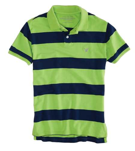 AEO Factory Bold Stripe Polo