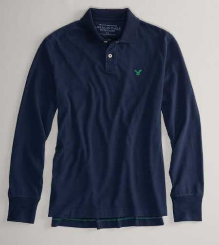 AEO Factory Long Sleeve Polo