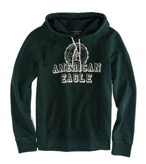 Balsam Green AEO Factory Signature Hooded Pop Over