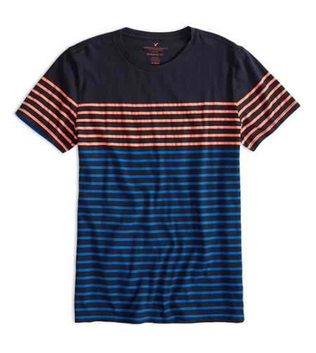 AEO Factory Colorblock Stripe T-Shirt