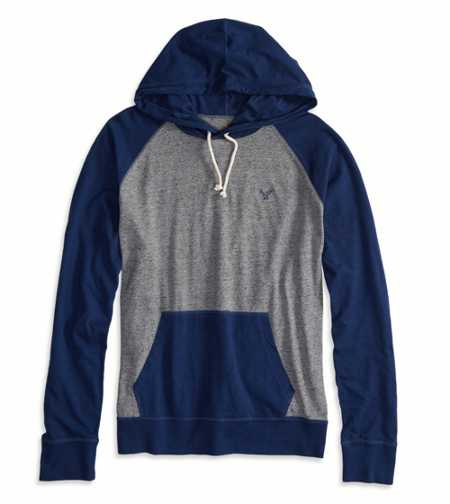 AEO Factory Colorblocked Hoodie T-Shirt