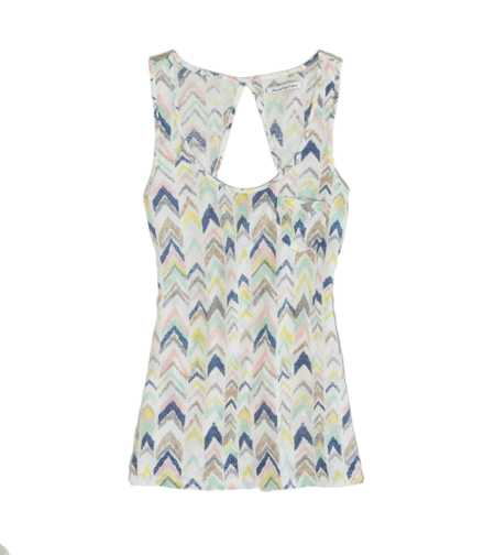 AEO Factory Printed Open Back Tank