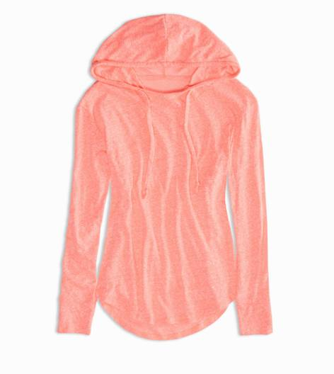 Knockout Pink AEO Factory Hoodie T-Shirt