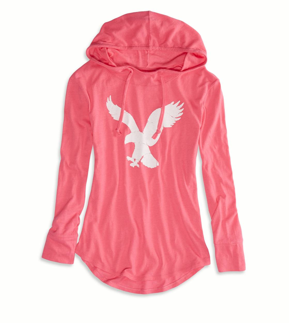 Voltage Pink AEO Factory Graphic Hoodie T-Shirt